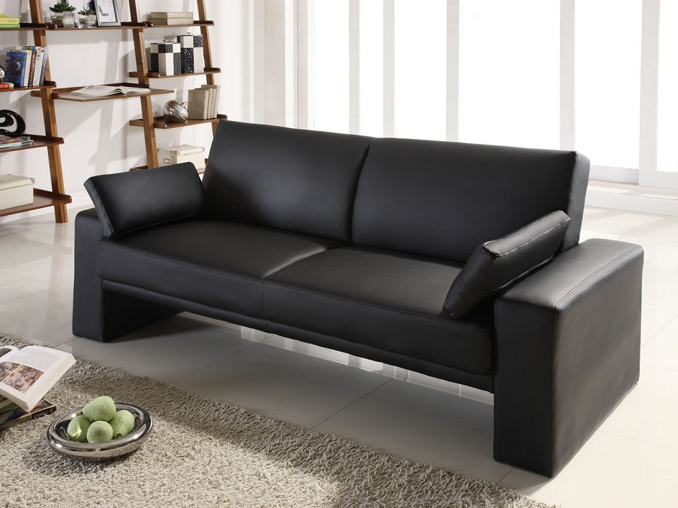 Image of: Faux Leather Futon Plan