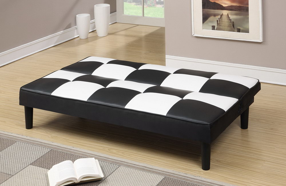 Image of: Full Size Futon Cover Black and White
