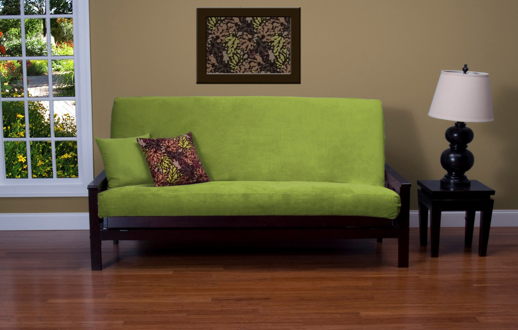 Image of: Full Size Futon Cover Green