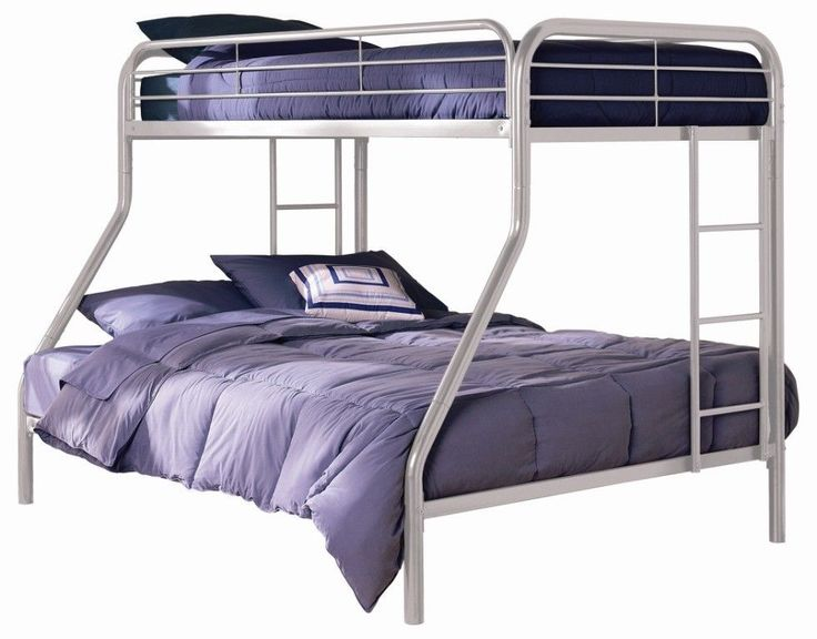 Futon Bunk Bed with Mattress Included Metal