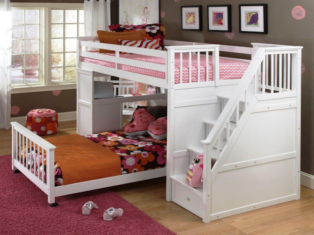 Image of: Futon Bunk Bed with Mattress Included Nice