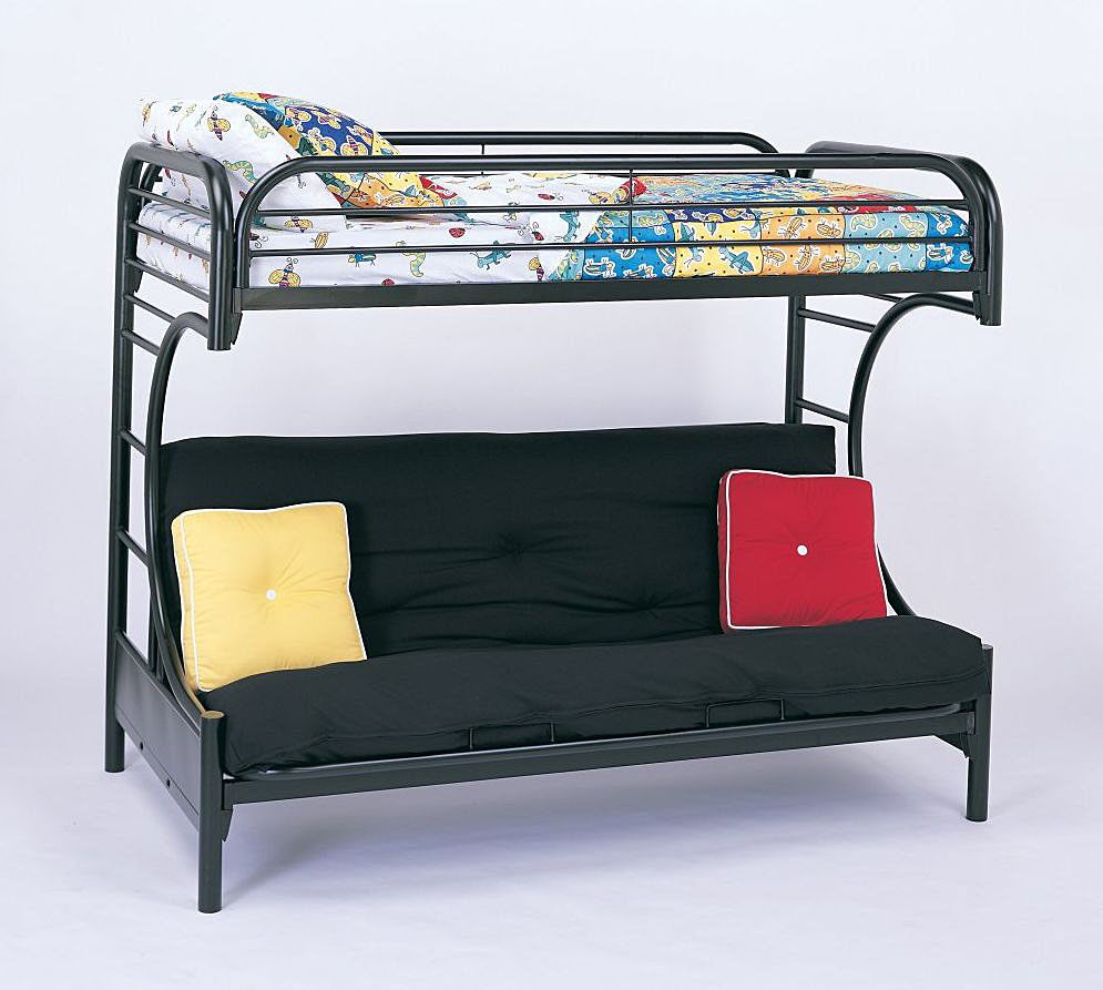 Image of: Futon Bunk Bed with Mattress Included Types