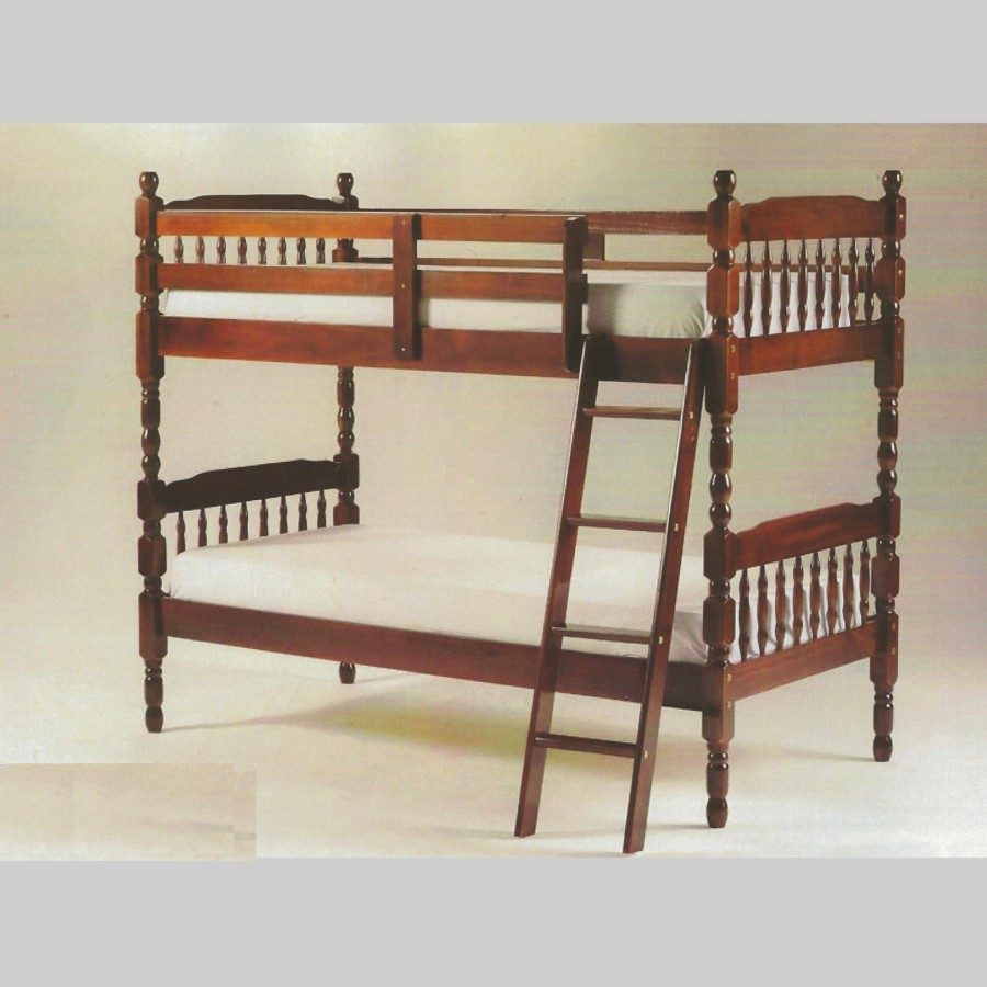 Futon Bunk Bed with Mattress Included Wood