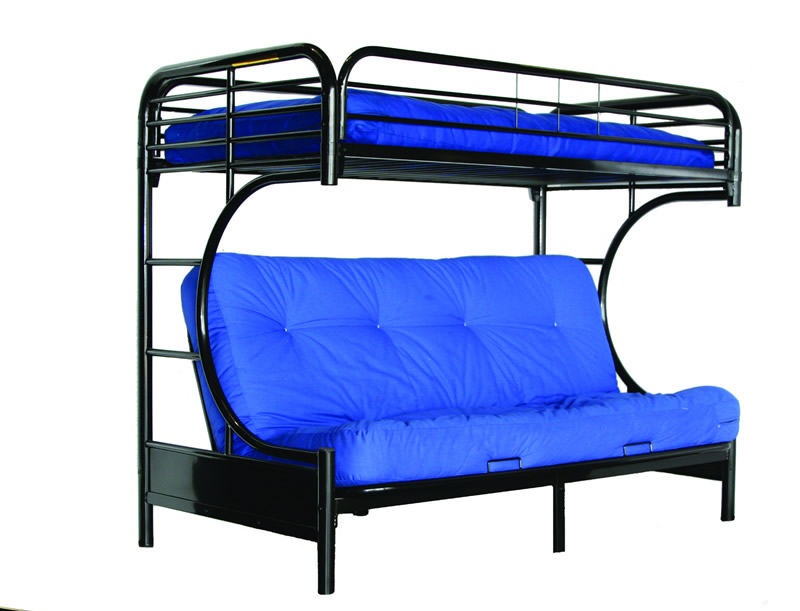 Image of: Futon Bunk Beds Blue