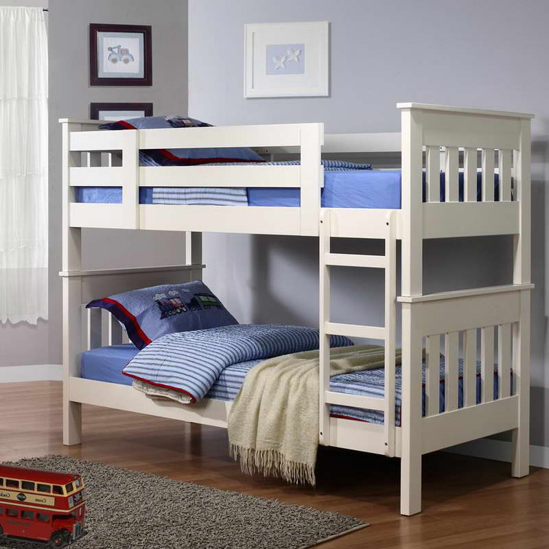 Image of: Futon Bunk Beds White