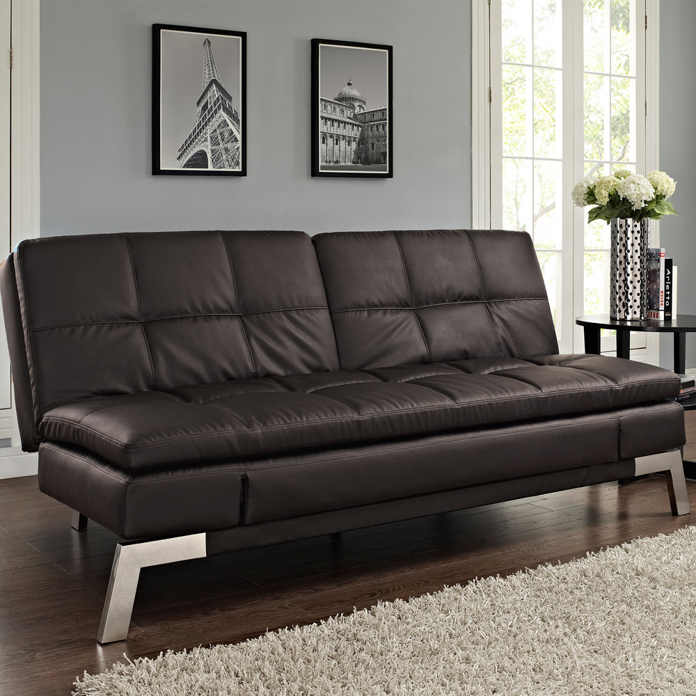 Image of: Futon Costco Leather