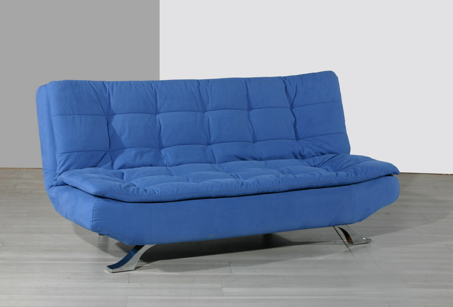 Image of: Futon Couch Bed Blue