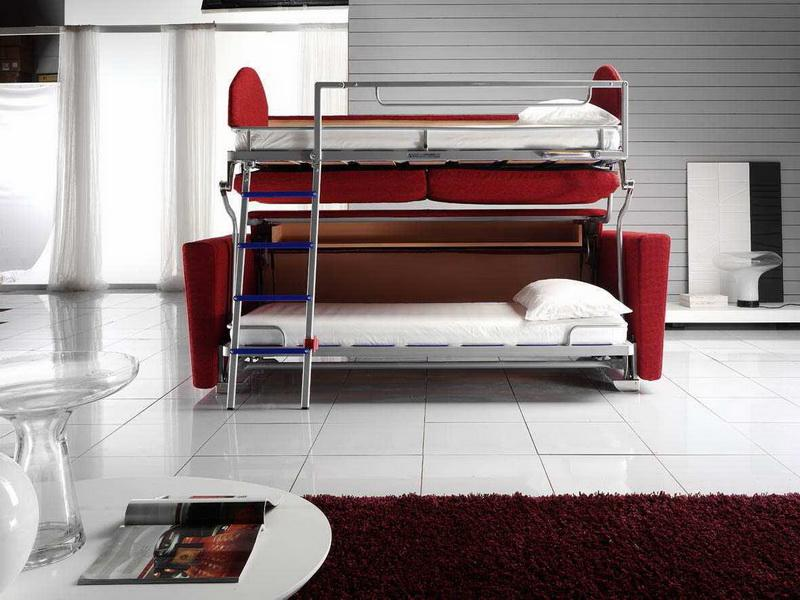 Futon Couch Bed Red