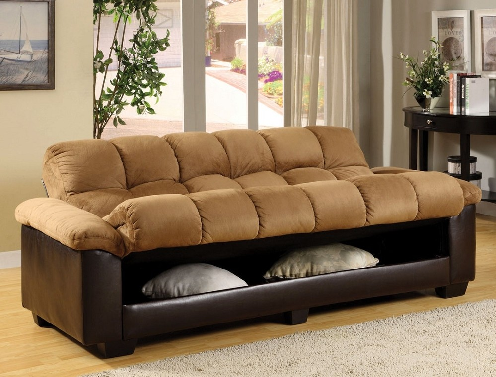 Image of: Futon Couches With Storage