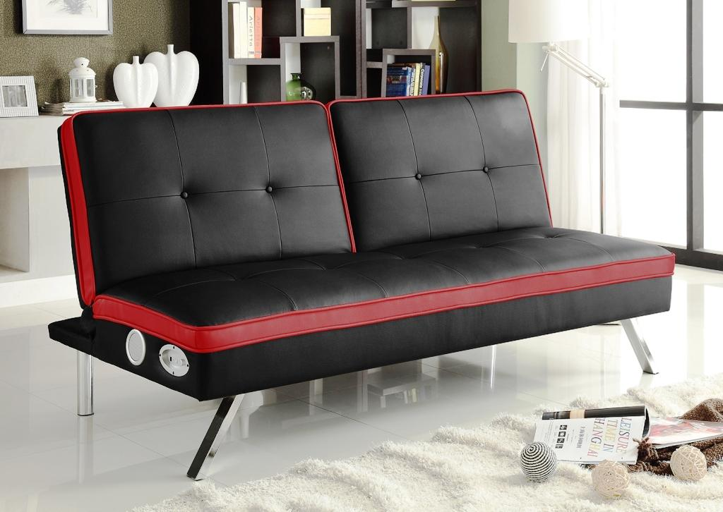 Image of: Futon Ikea Black