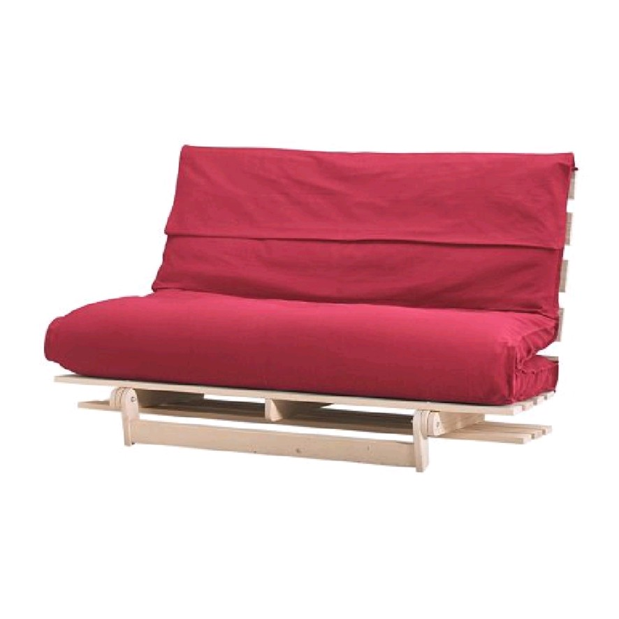 Image of: Futon Ikea Red