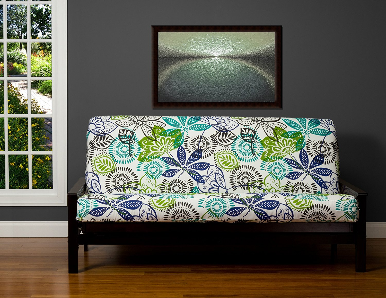 Image of: Futon Mattress Cover Flowers