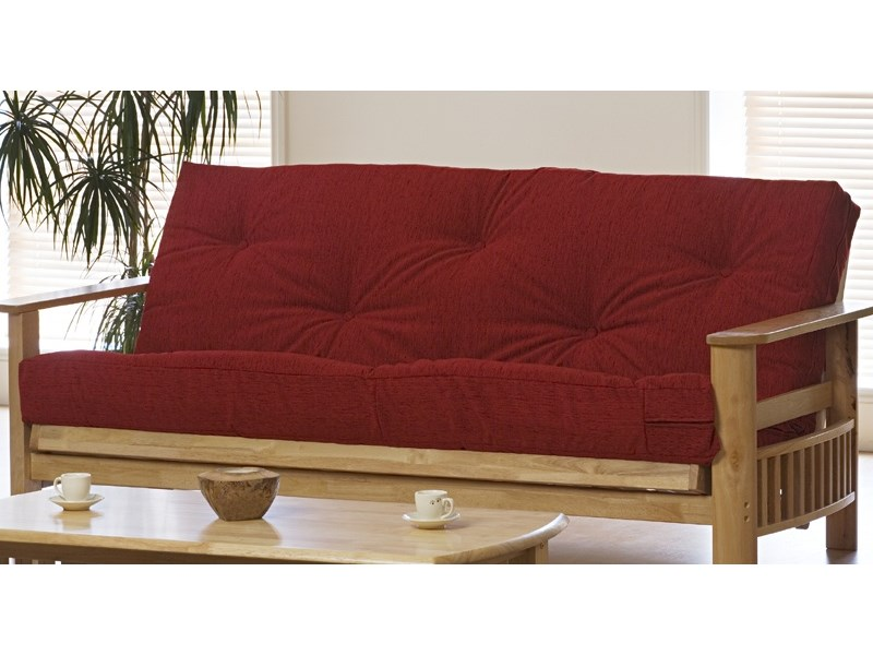 Futon Mattress Cover Maroon