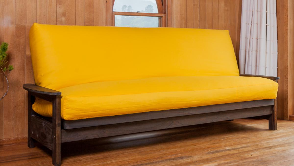 Image of: Futon Mattress Cover Yellow
