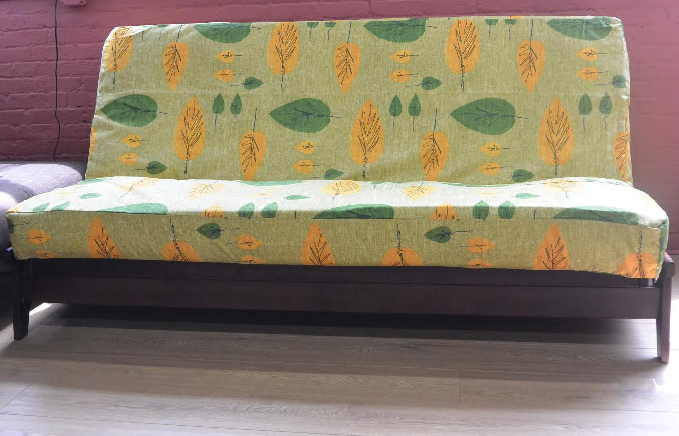 Image of: Futon Slipcover Fabric