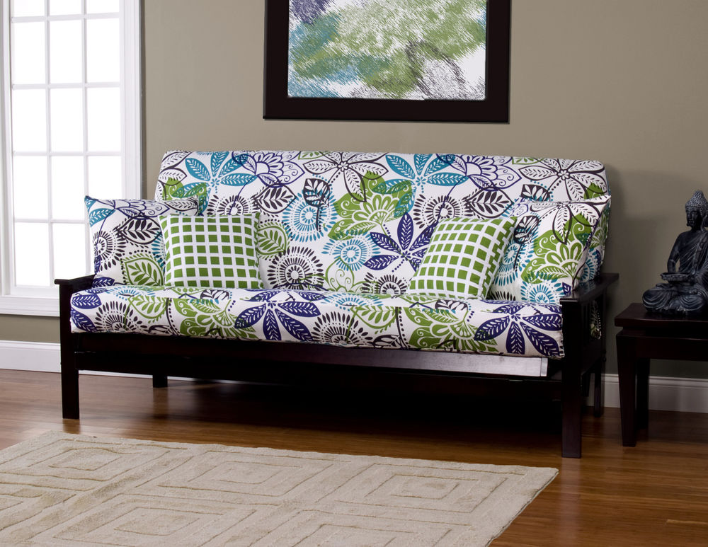 Image of: Futon Slipcover Flower