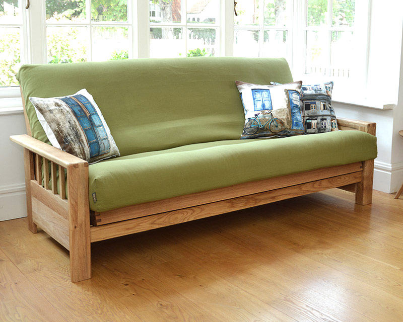 Image of: Futon Slipcover Green