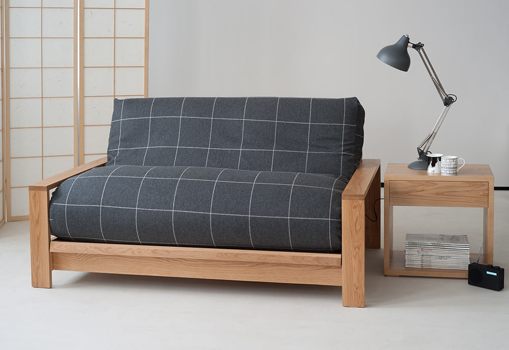 Image of: Futon Sofa Beds Charcoal Cover