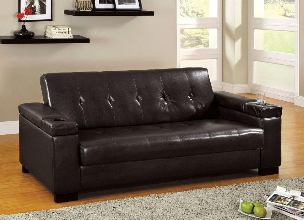 Image of: Futon With Armrest Black Designs Ideas