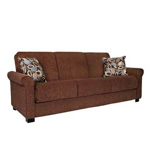 Futon with Armrest Brown