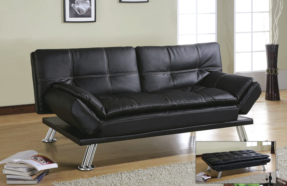 Image of: Good Faux Leather Futon