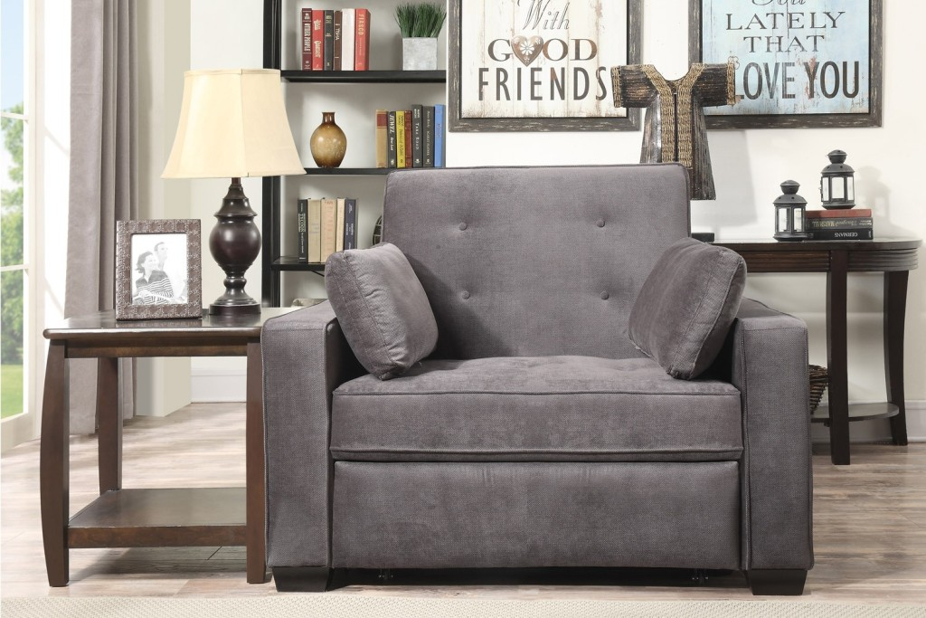 Gray Twin Futon Chair