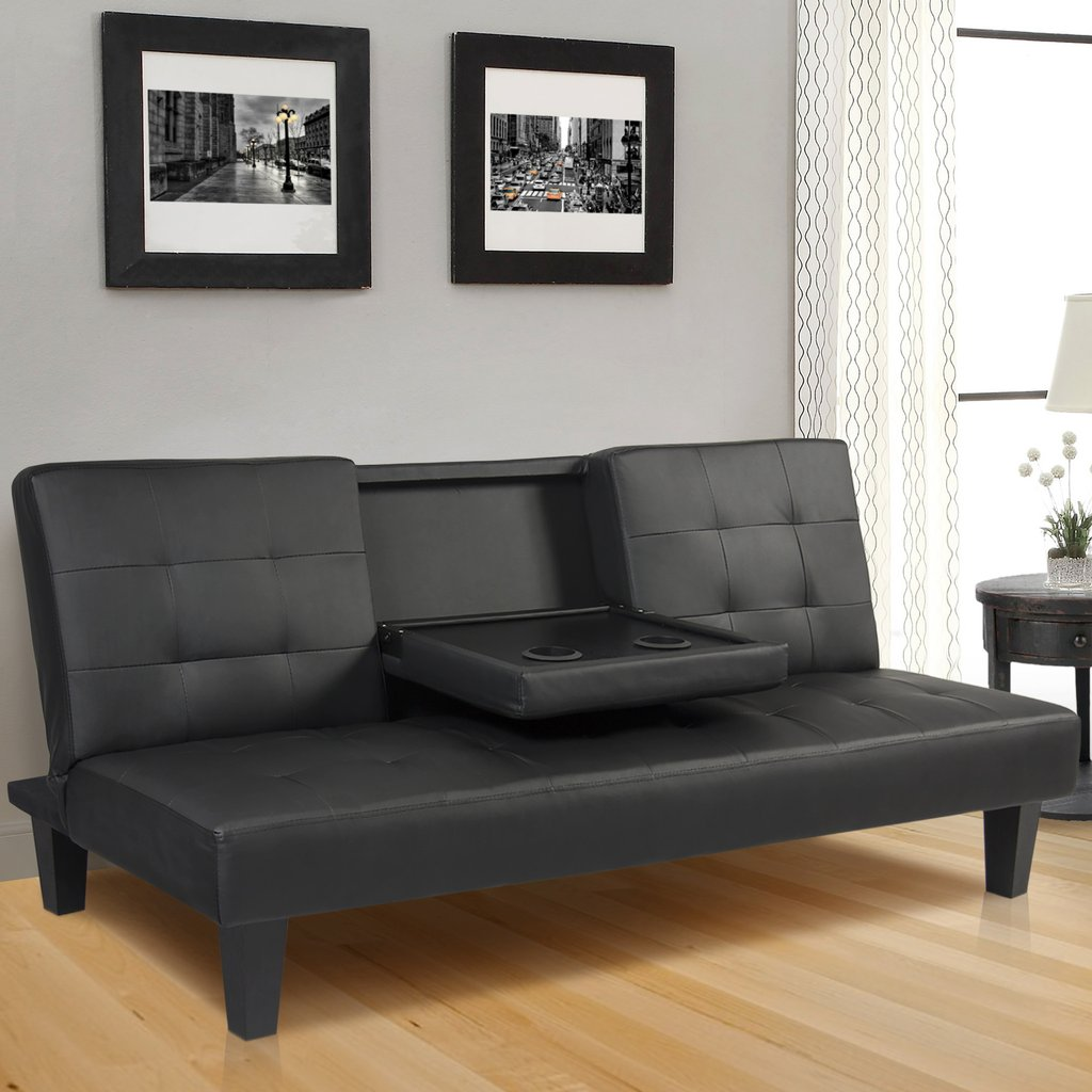 Image of: Great Faux Leather Futon