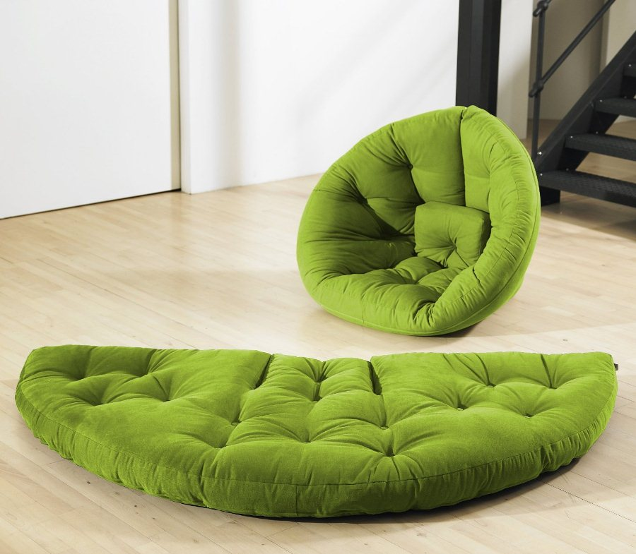Image of: Green Futon Chair