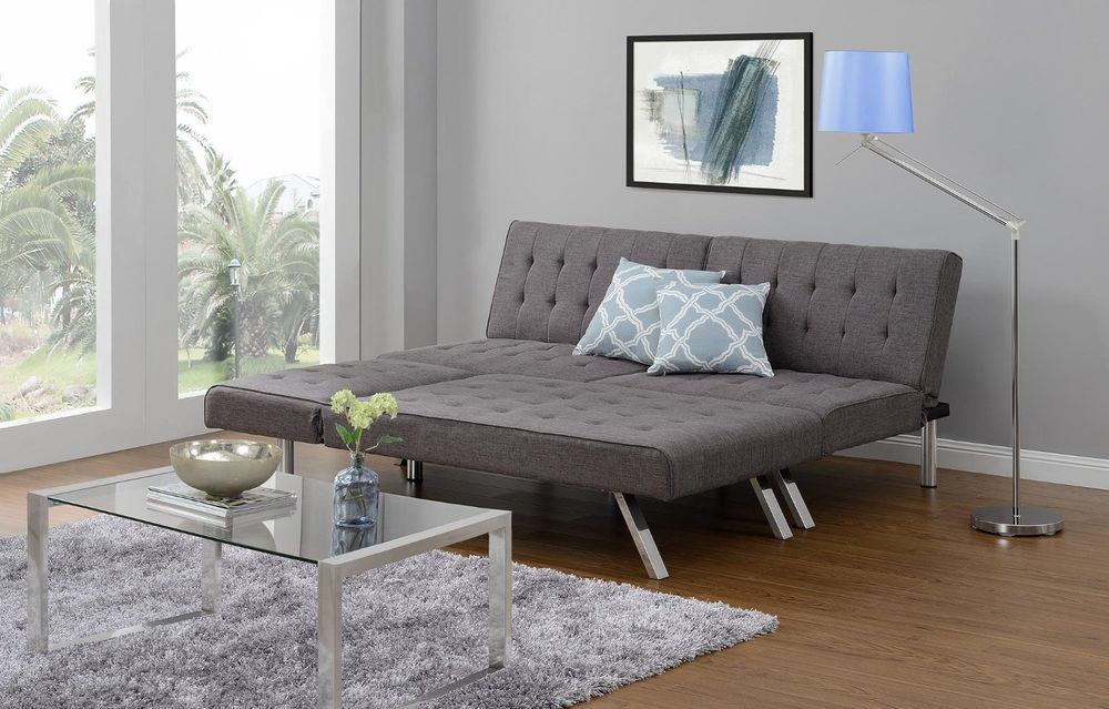 Image of: Grey Futon Chaise