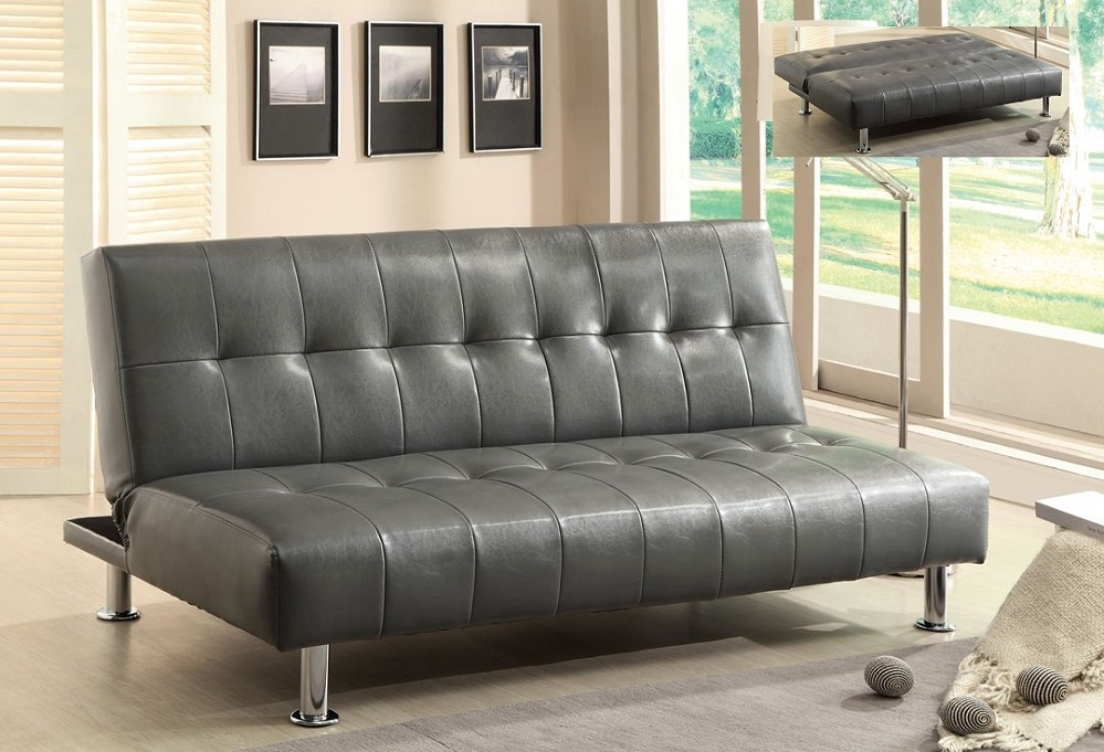 Image of: Grey Futon Click Clack