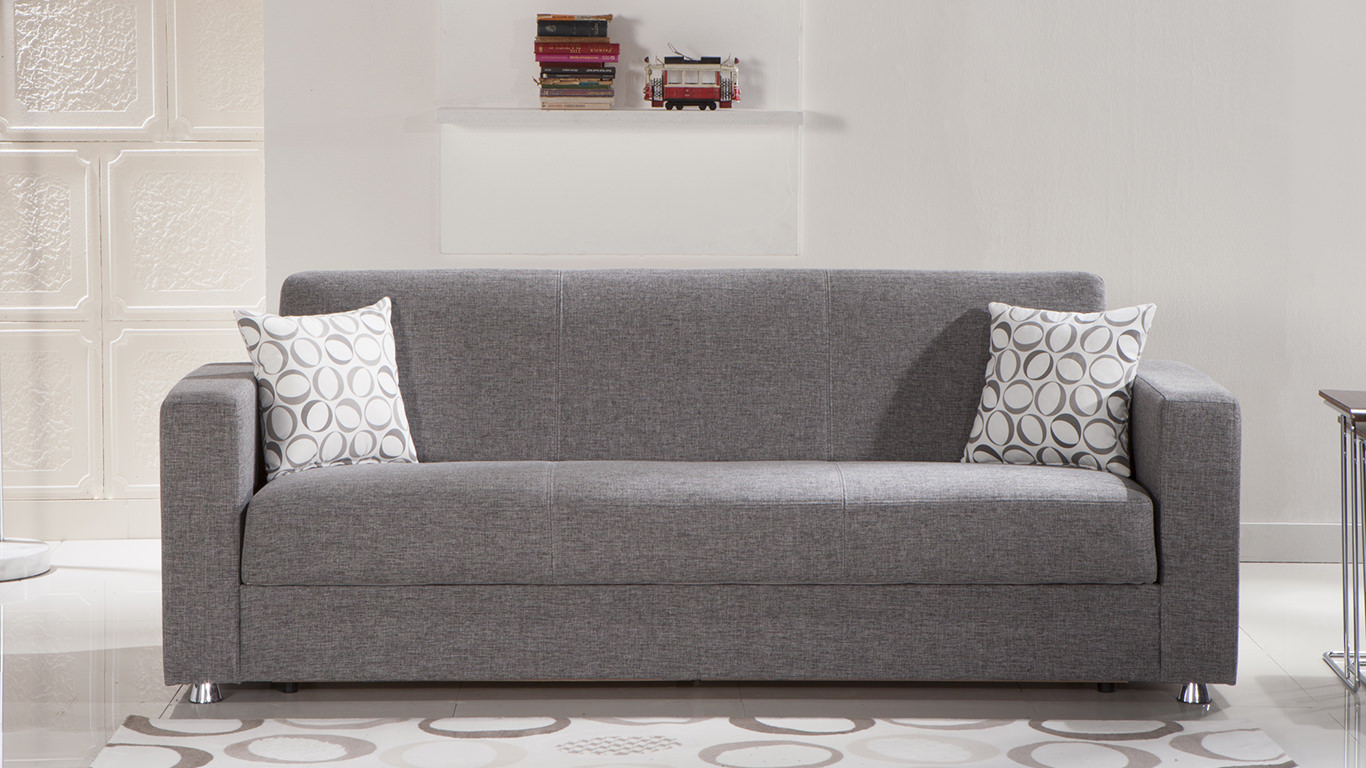 Image of: Grey Futon Covertible