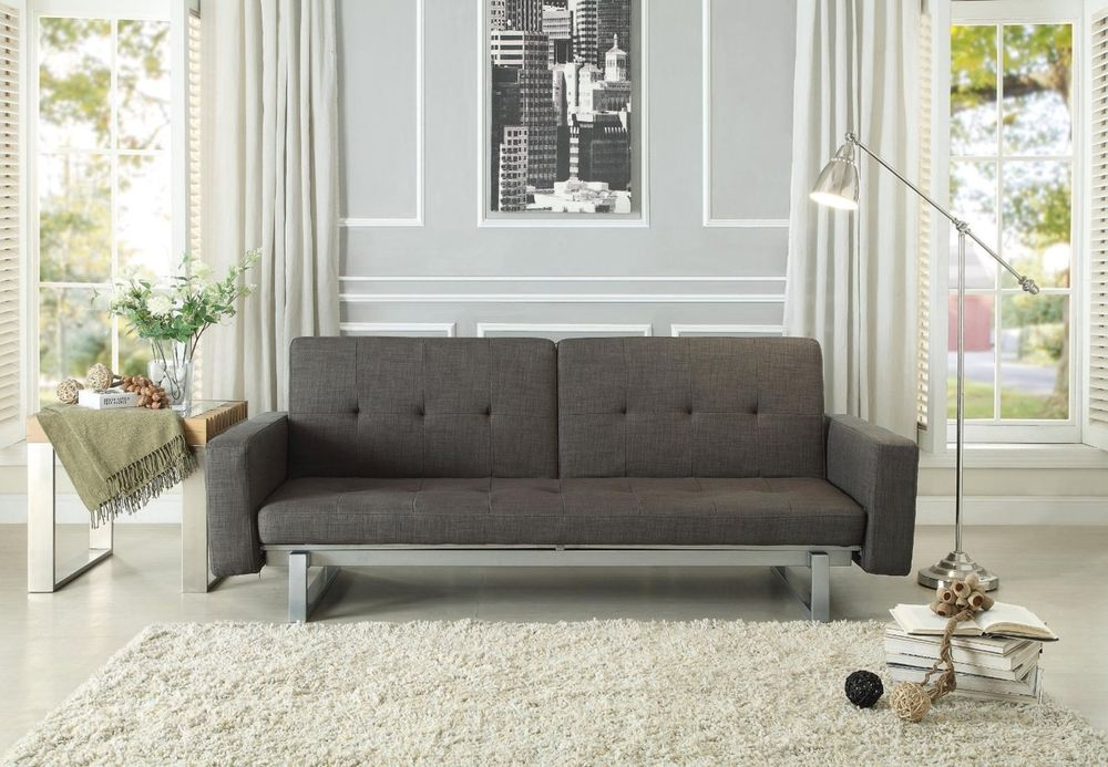 Grey Futon Living Room
