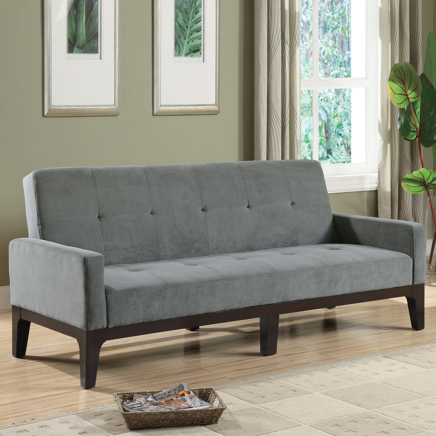 Image of: Grey Futon Sofa