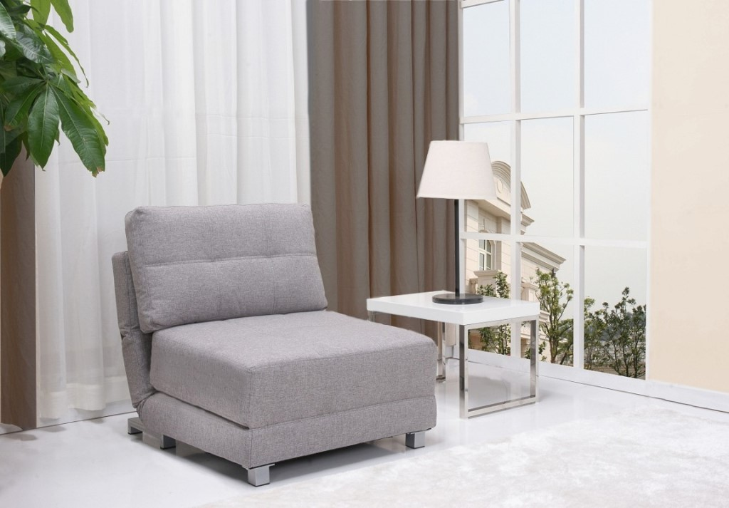 Grey Twin Futon Chair
