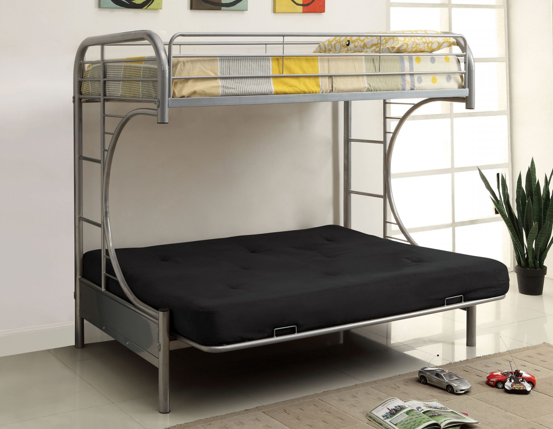 Image of: Image Metal Futon Bunk Bed
