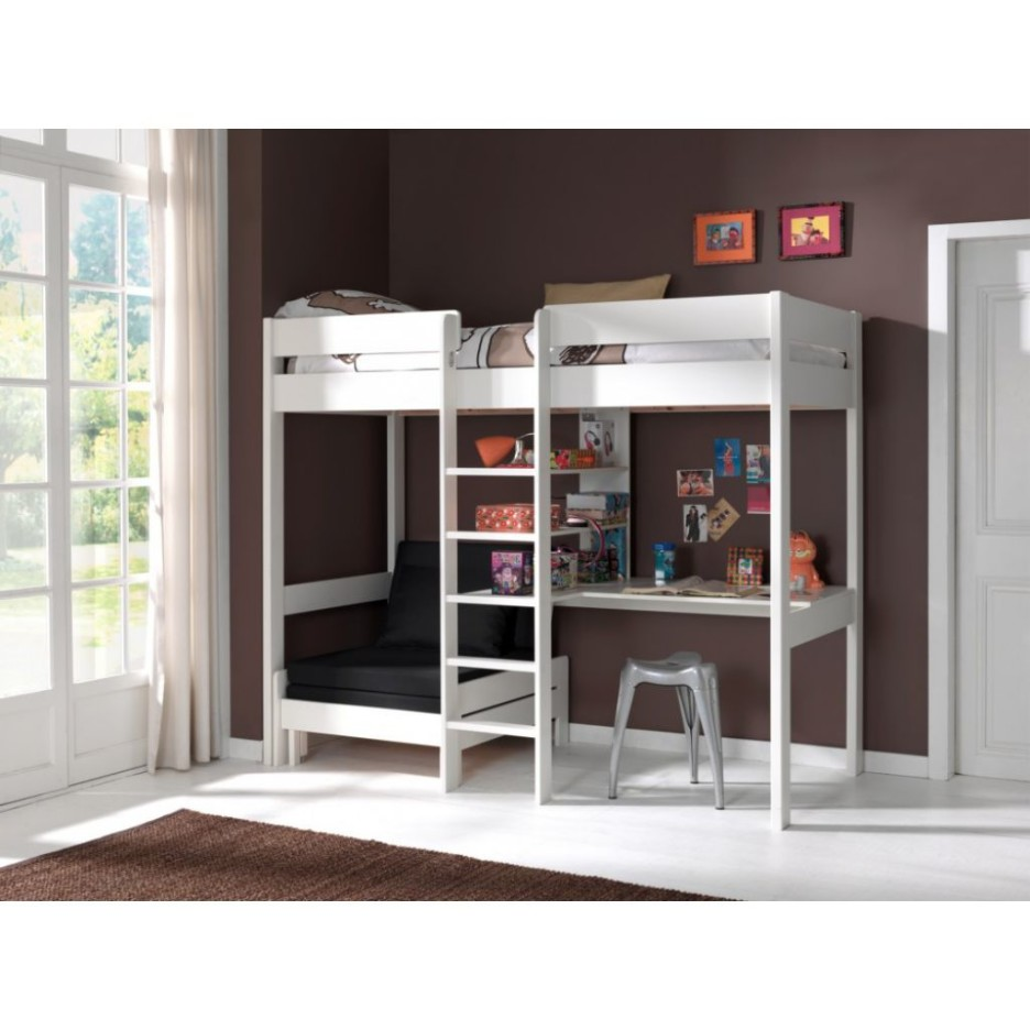 Image of: Kids Loft Bed with Futon