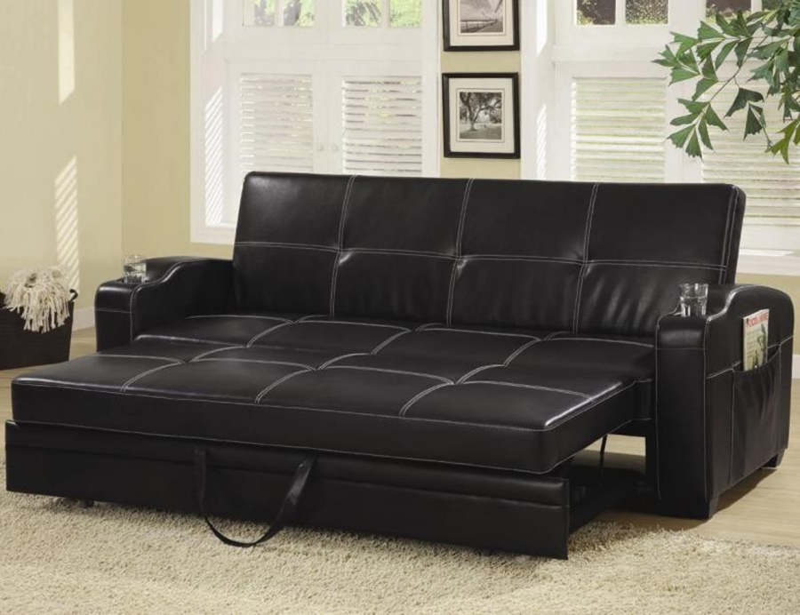 Image of: Leather Costco Futon Sofa