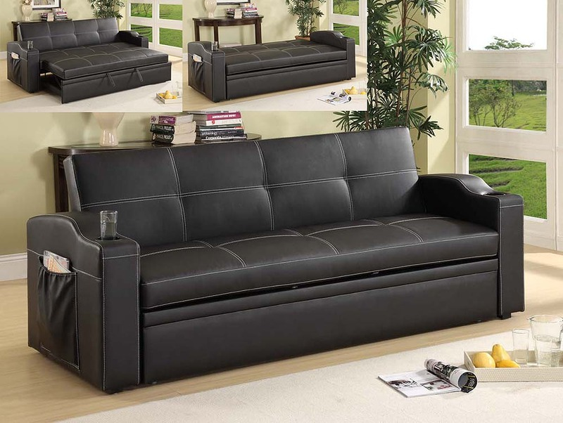 Image of: Leather Futon Couches