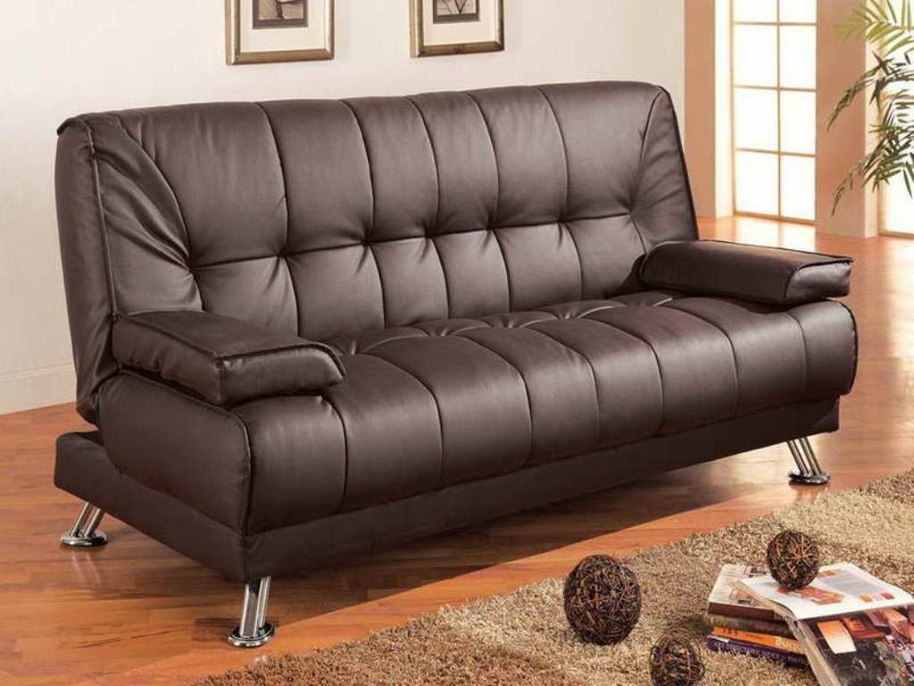 Image of: Leather Small Futons