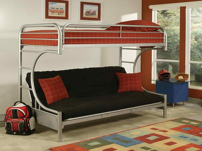 Image of: Loft Bed with Futon Couch