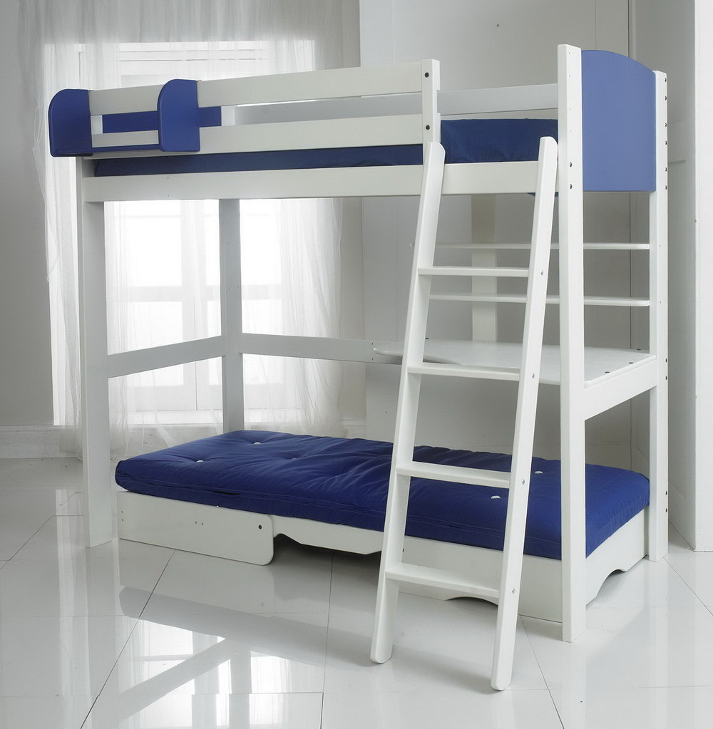 Image of: Loft Bed with Futon Idea