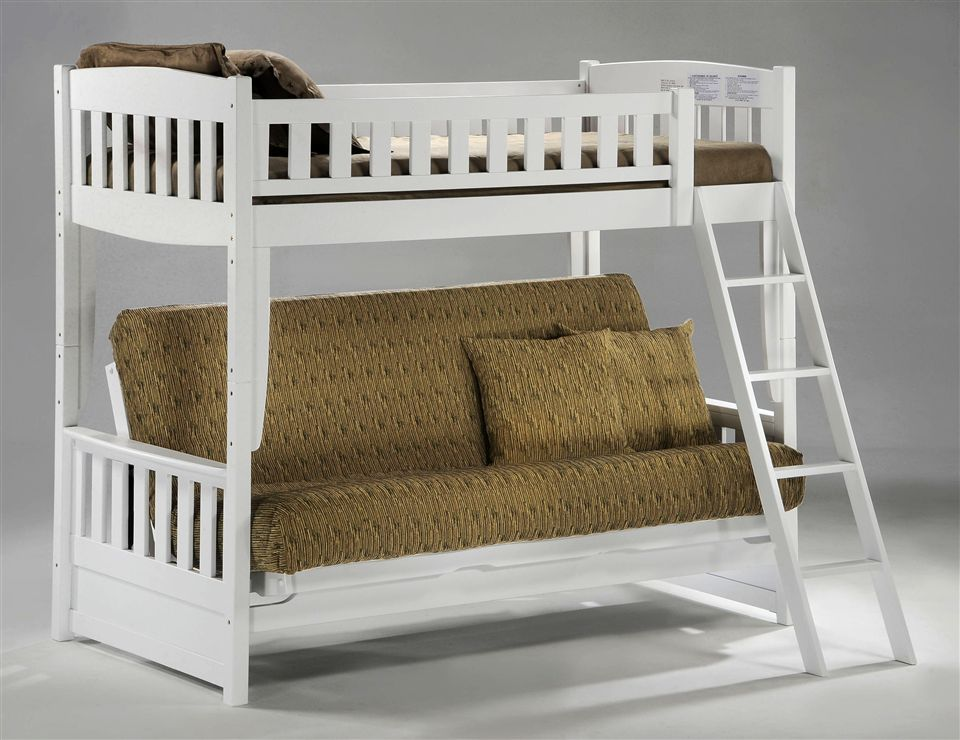 Image of: Loft Bed with Futon Underneath