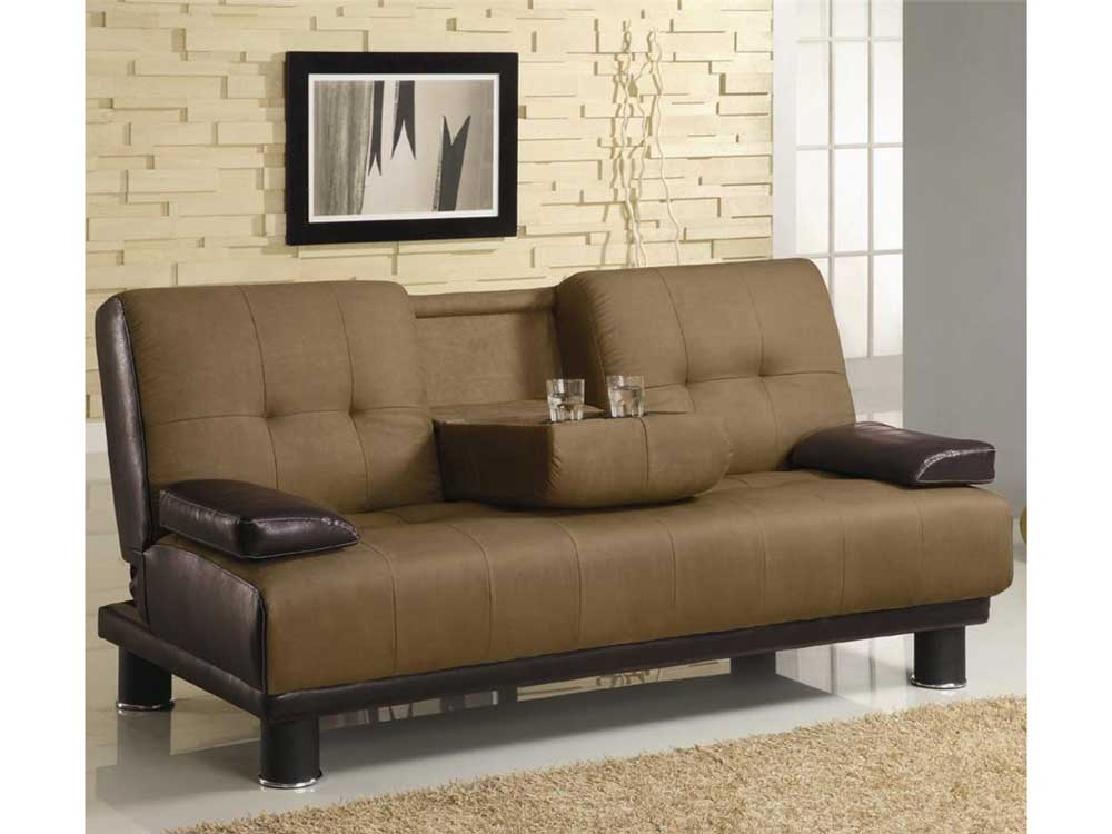 Louis Futon Brown
