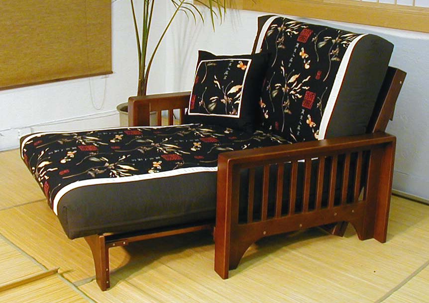 Image of: Loveseat Futon Chairs