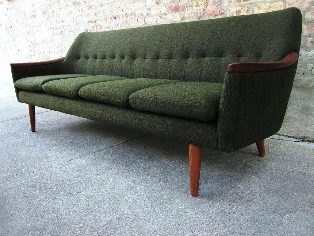 Image of: Loveseat Futon Green