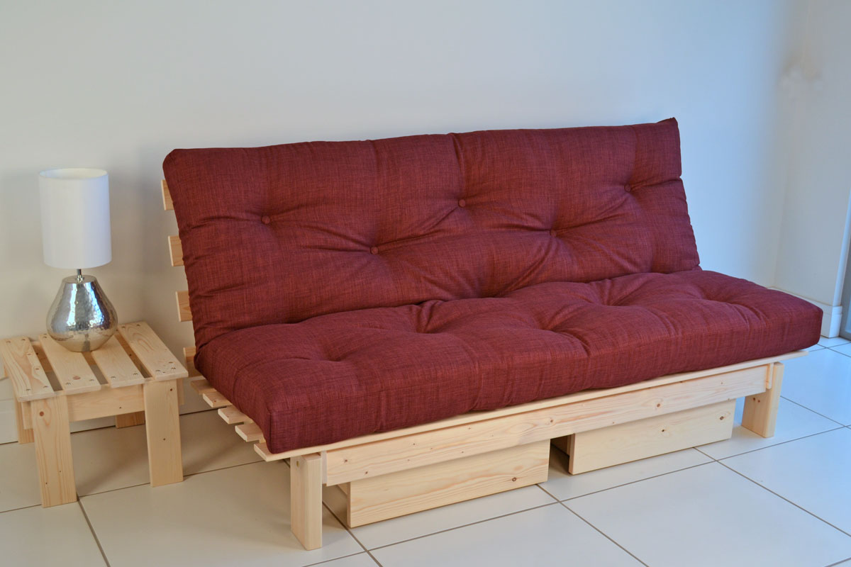 Image of: Loveseat Futon Storage