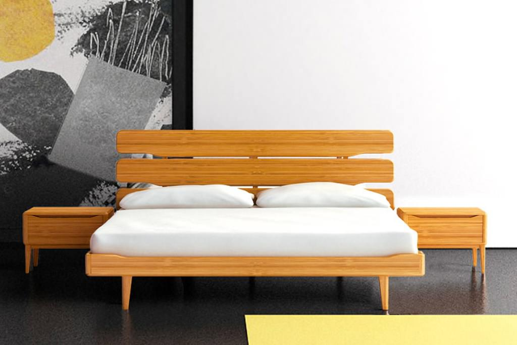 Image of: Memory Foam Futon Wood Bed