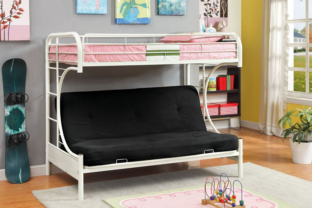 Minimalist Twin Over Futon Bunk Bed