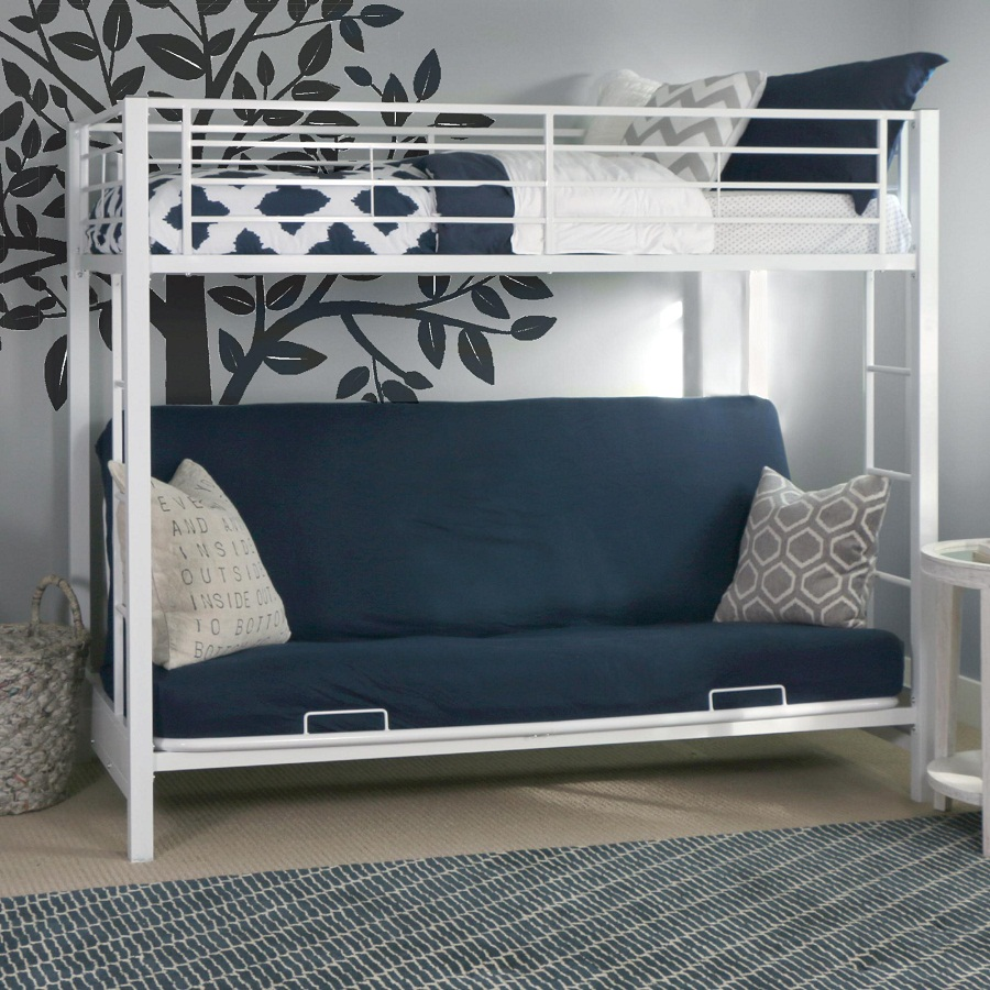 Modern Bunk Bed with Futon