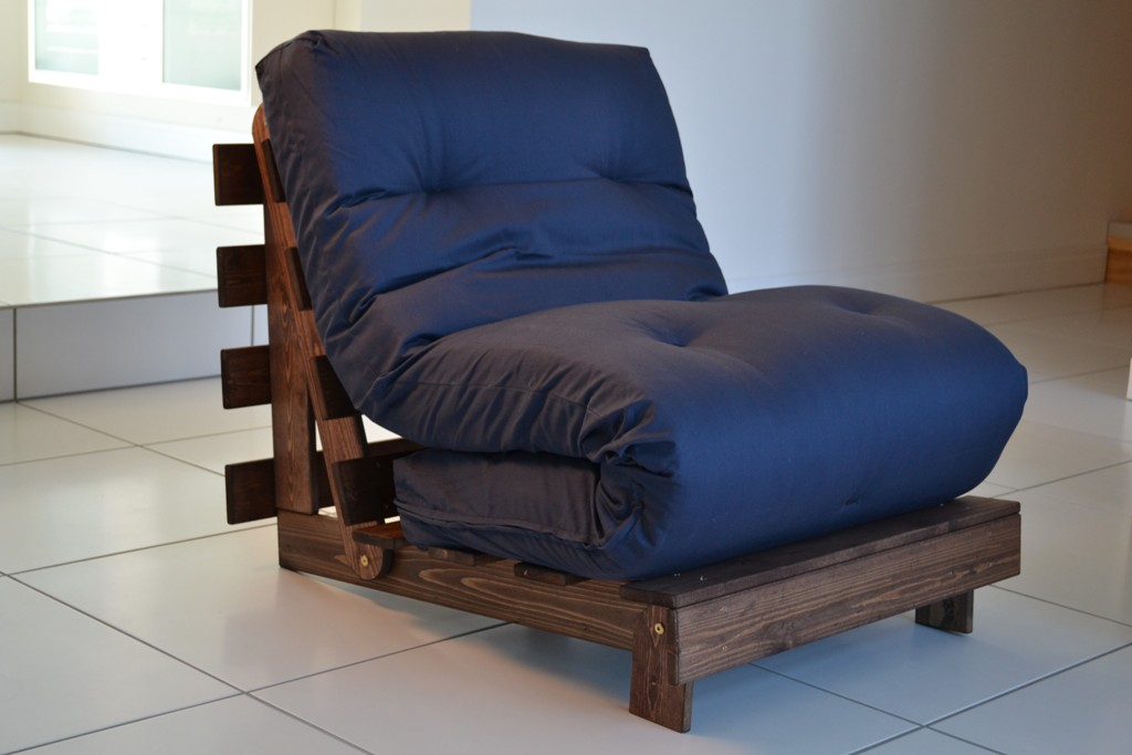 Navy Twin Futon Chair